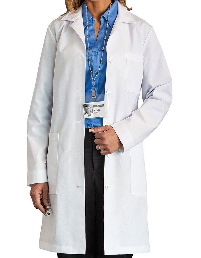 b77cc5de325 Meta 161T Women's 37 Inch Five-Pocket Long Lab Coat