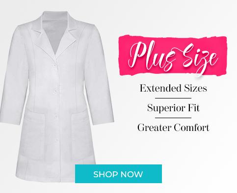 plus size labcoats