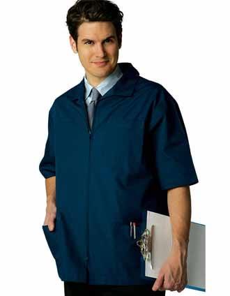 Shop Adar Uniforms Zippered Short Sleeve Men Colored