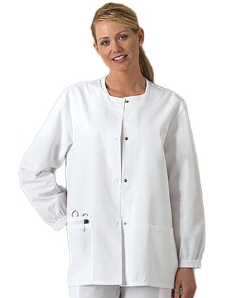 Shop Cherokee Workwear Snap Front 27.5 Inch Women Warm-Up ...