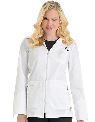 UR-9602-Urbane Scrubs 31 inch Short Zipper Front Womens Lab Coat