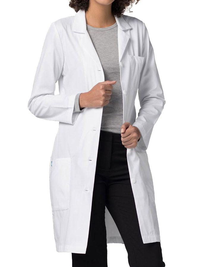 Adar Three Pocket 36 inch Slim-Fit Women Long Lab Coat