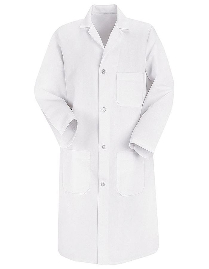 Red Kap 41.5 inch Three Pockets Men Long White Lab Coat